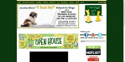 Dog and Puppy Training Website: Joomla